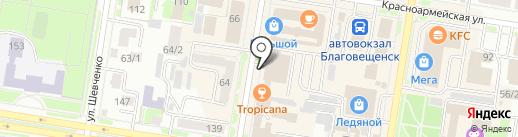 Специализированная часть по тушению крупных пожаров на карте Благовещенска