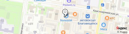 Банкомат, Бинбанк, ПАО на карте Благовещенска