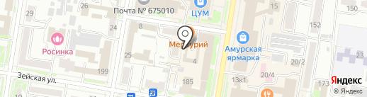 Интим на карте Благовещенска