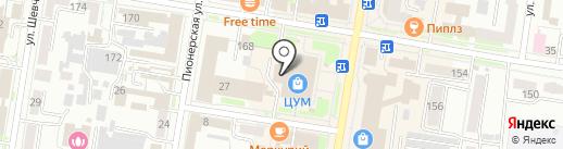 Магазин музыкальных инструментов на карте Благовещенска