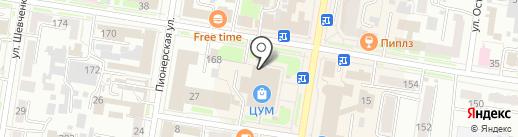 Магазин женской одежды на карте Благовещенска