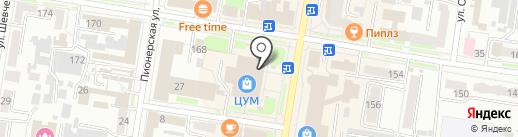 Магазин женской классической одежды на карте Благовещенска