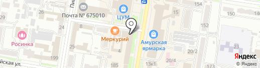 Отдел вневедомственной охраны Войск Национальной Гвардии России по Амурской области на карте Благовещенска