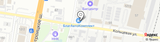 Магазин авточехлов на карте Благовещенска