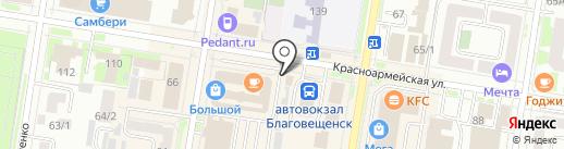 Газеты и журналы на карте Благовещенска