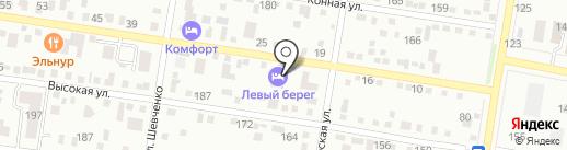 Караван на карте Благовещенска