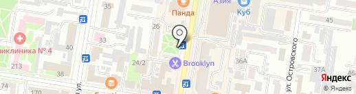 Киоск по продаже мороженого и молочных коктейлей на карте Благовещенска