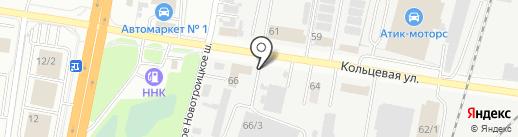 Киоск по продаже артезианской воды на карте Благовещенска