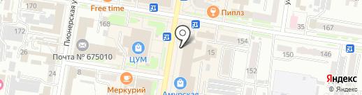 Центр вышивки на карте Благовещенска