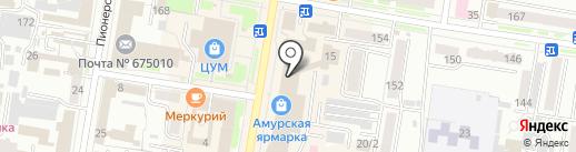 Апекс на карте Благовещенска