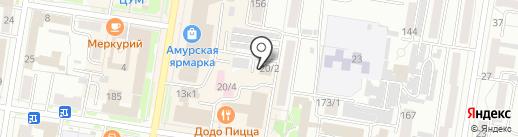 Асфальт на карте Благовещенска