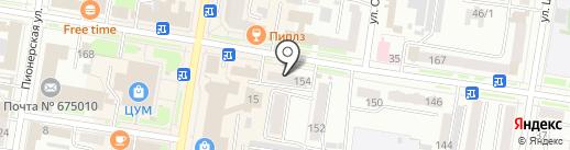 Управление Федеральной службы России по контролю за оборотом наркотиков по Амурской области на карте Благовещенска