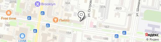 Даурия на карте Благовещенска