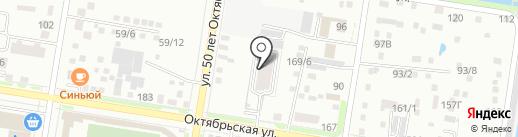 Многоуровневый автопарковочный комплекс на карте Благовещенска