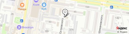 Колосок на карте Благовещенска