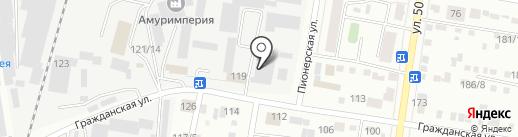 Островок на карте Благовещенска