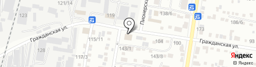 Моё TAXI на карте Благовещенска