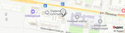Дальневосточный банк Сбербанка России на карте Благовещенска