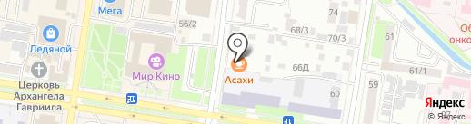 Asahi на карте Благовещенска