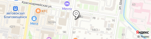 Callista на карте Благовещенска