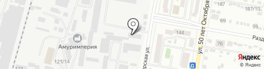 Амурбурвод на карте Благовещенска