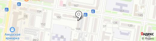 Федеральная кадастровая палата федеральной службы государственной регистрации, кадастра и картографии по Амурской области на карте Благовещенска