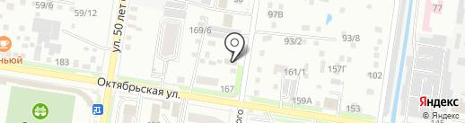 Амурский бриллаинт на карте Благовещенска