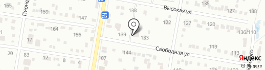 Амурский бульвар на карте Благовещенска