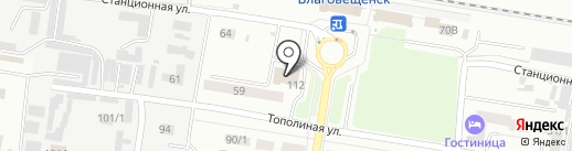 Славянское на карте Благовещенска