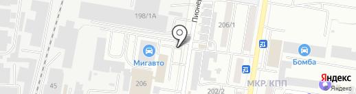 Торнадо на карте Благовещенска