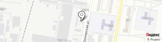 Деталина на карте Благовещенска