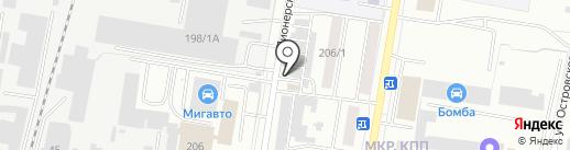 Амур-Знак на карте Благовещенска