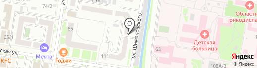 Аполлония на карте Благовещенска