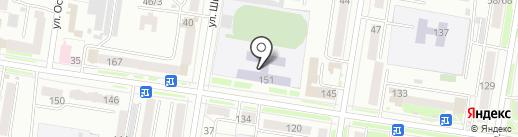 Средняя общеобразовательная школа №11 с углубленным изучением отдельных предметов на карте Благовещенска