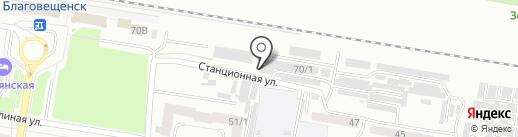 Кореан АвVто Амур на карте Благовещенска
