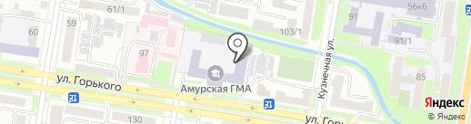 АГМА на карте Благовещенска