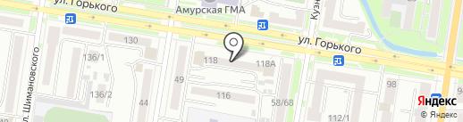 Аутсорсинг Групп на карте Благовещенска