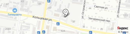 Вектор на карте Благовещенска