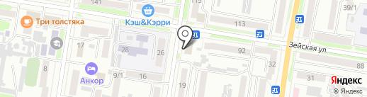 Поли-М на карте Благовещенска