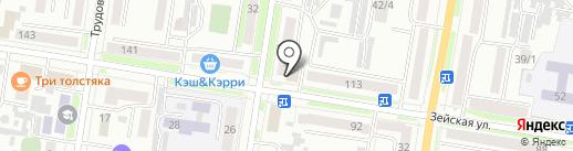 Пивник на карте Благовещенска