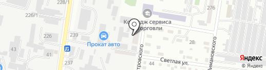 Амурская производственно-торговая компания на карте Благовещенска
