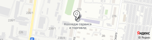 Амурский колледж сервиса и торговли на карте Благовещенска