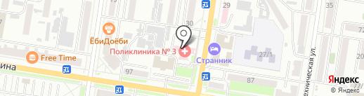 Городская поликлиника №3 на карте Благовещенска