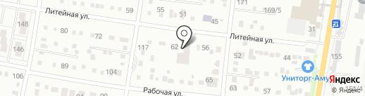 Осби на карте Благовещенска