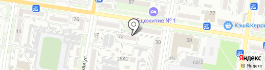 Молодежная на карте Благовещенска