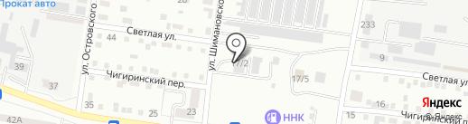 Автомотив на карте Благовещенска