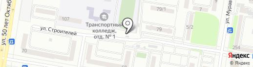 Северный на карте Благовещенска
