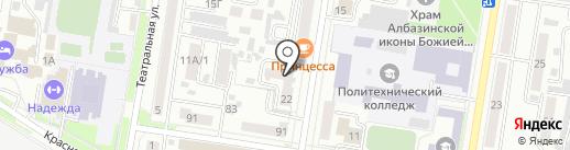 Благовещенскпроект на карте Благовещенска