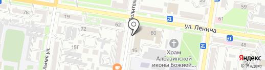 Балагур на карте Благовещенска