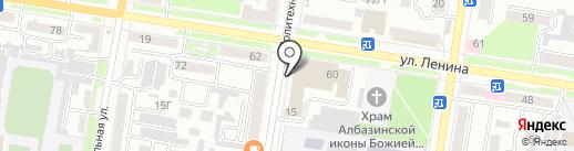Поликлиника профилактических осмотров на карте Благовещенска